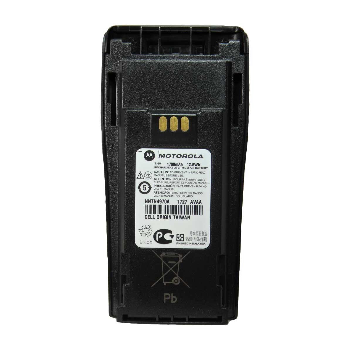 Batería Li-Ion 1700 mAh Motorola de alta capacidad para DEP450 NNTN4970
