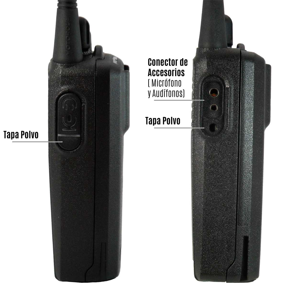 Radio Motorola EP350 MX Analógico LAH03KEH8AB7AN VHF 136-174 MHz con pantalla y teclado reducido