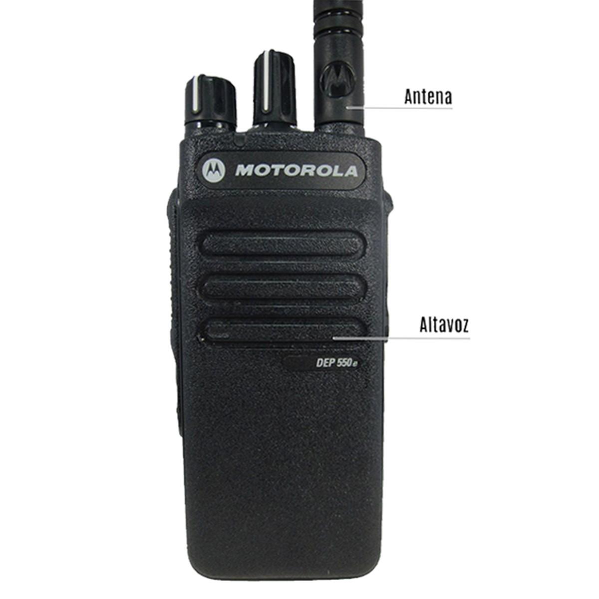 Radio Motorola DEP550e Digital LAH02RDC8UA1AN UHF 403-527 MHz
