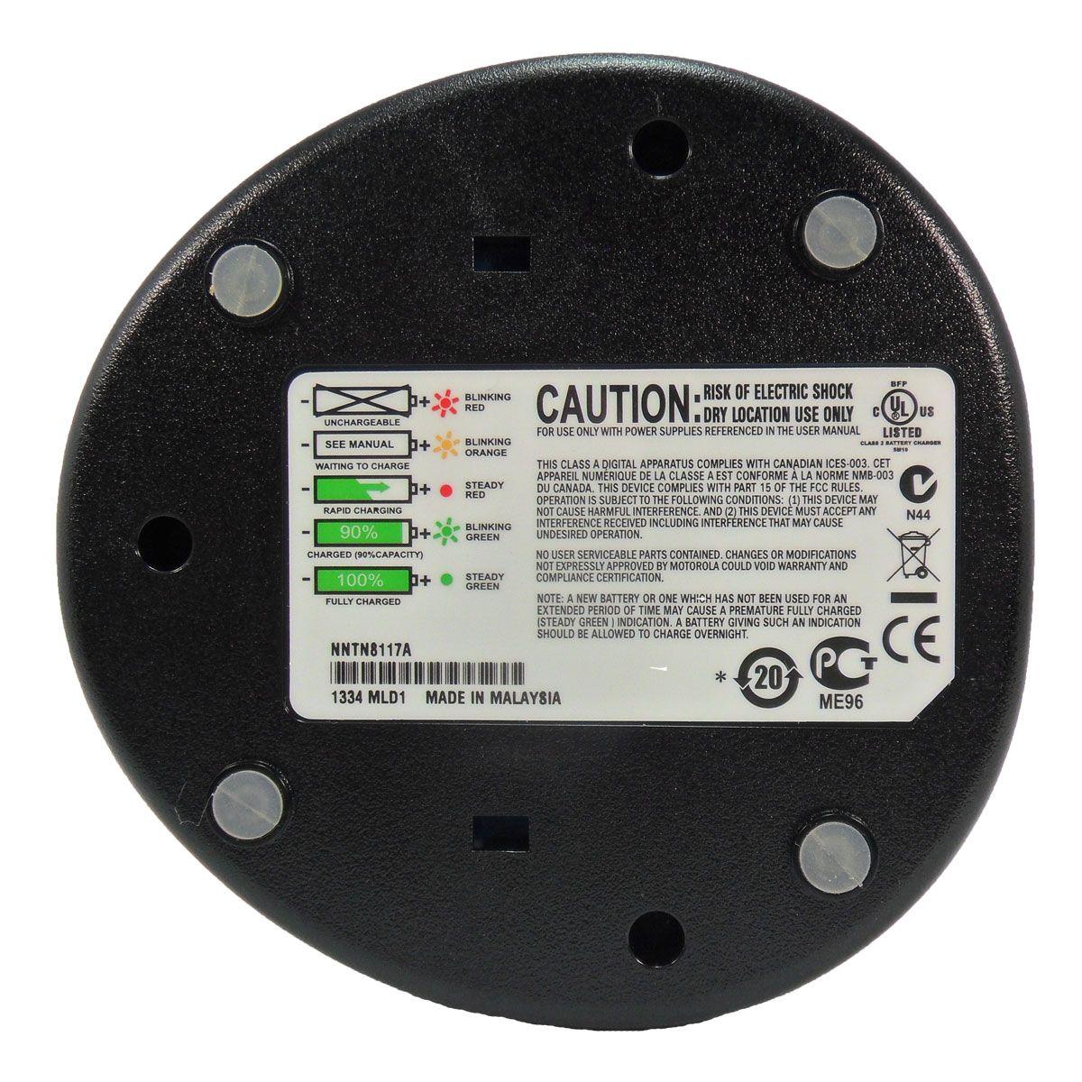 Cargador individual Motorola NNTN8117 para radio DEP550e