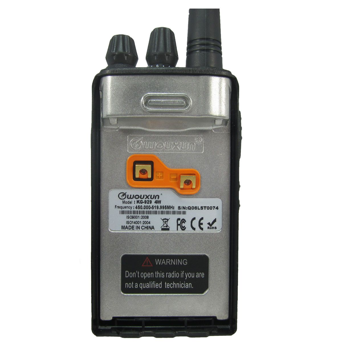 Radio Wouxun KG-929 Analógico UHF 450-520 MHz