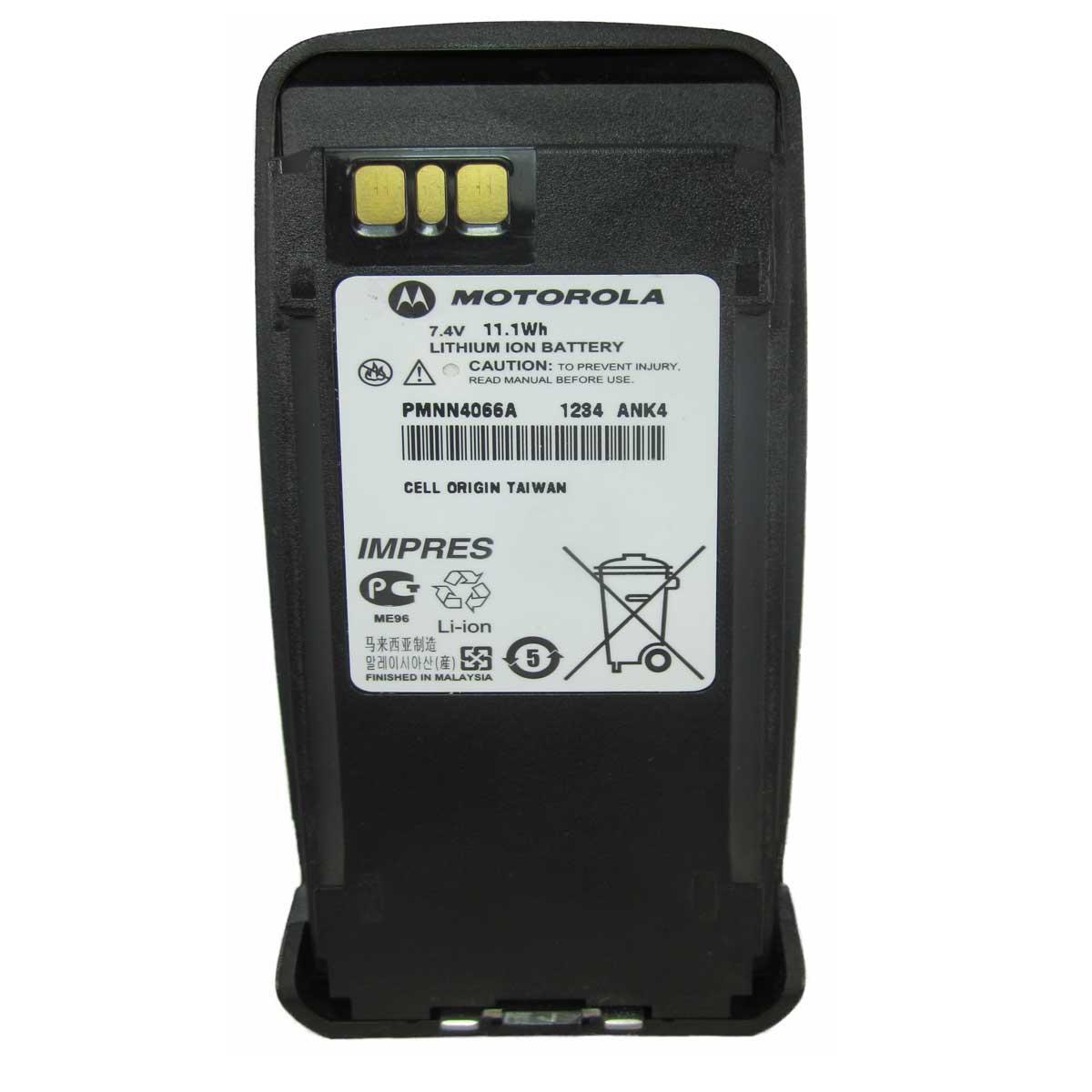 Batería Motorola Li-Ion 1600 mAh para radio DGP4150 y DGP6150 PMNN4066A