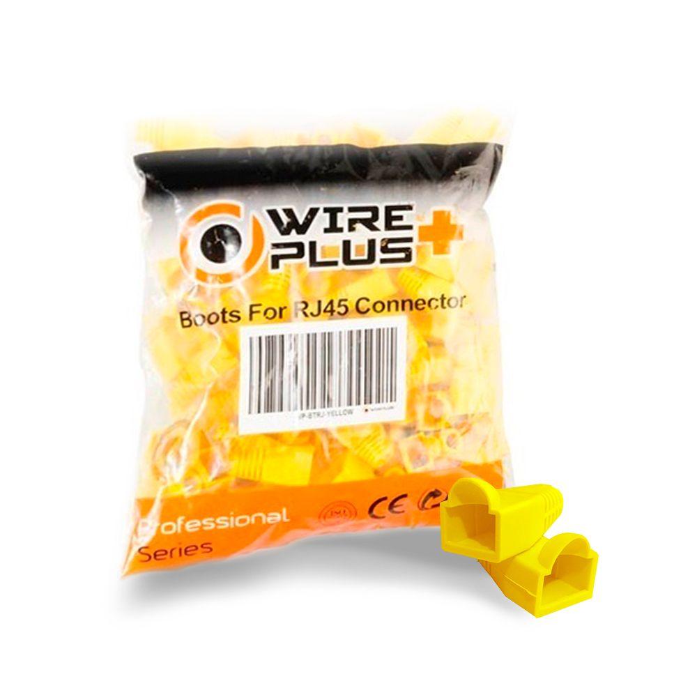 Botas para conector RJ45 amarillas Wireplus
