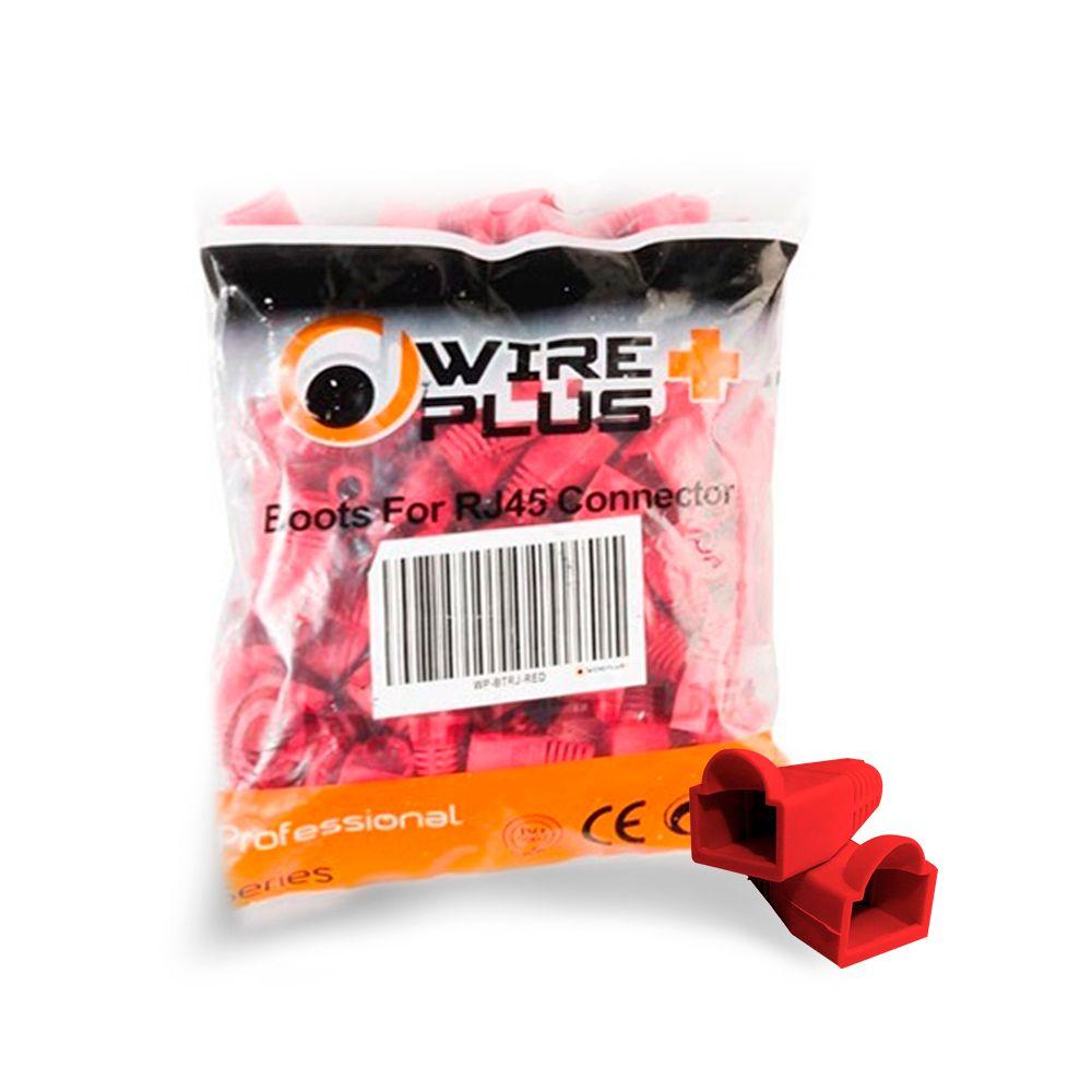 Botas para conector RJ45 rojas Wireplus
