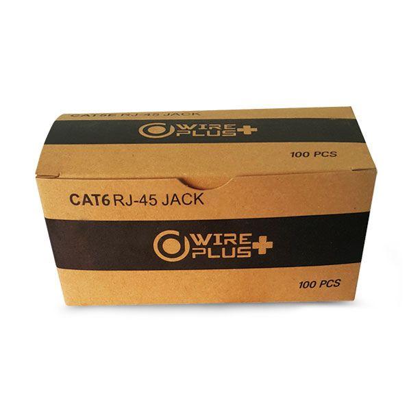 Conectores RJ45 Cat 6 Wireplus 100 Unidades