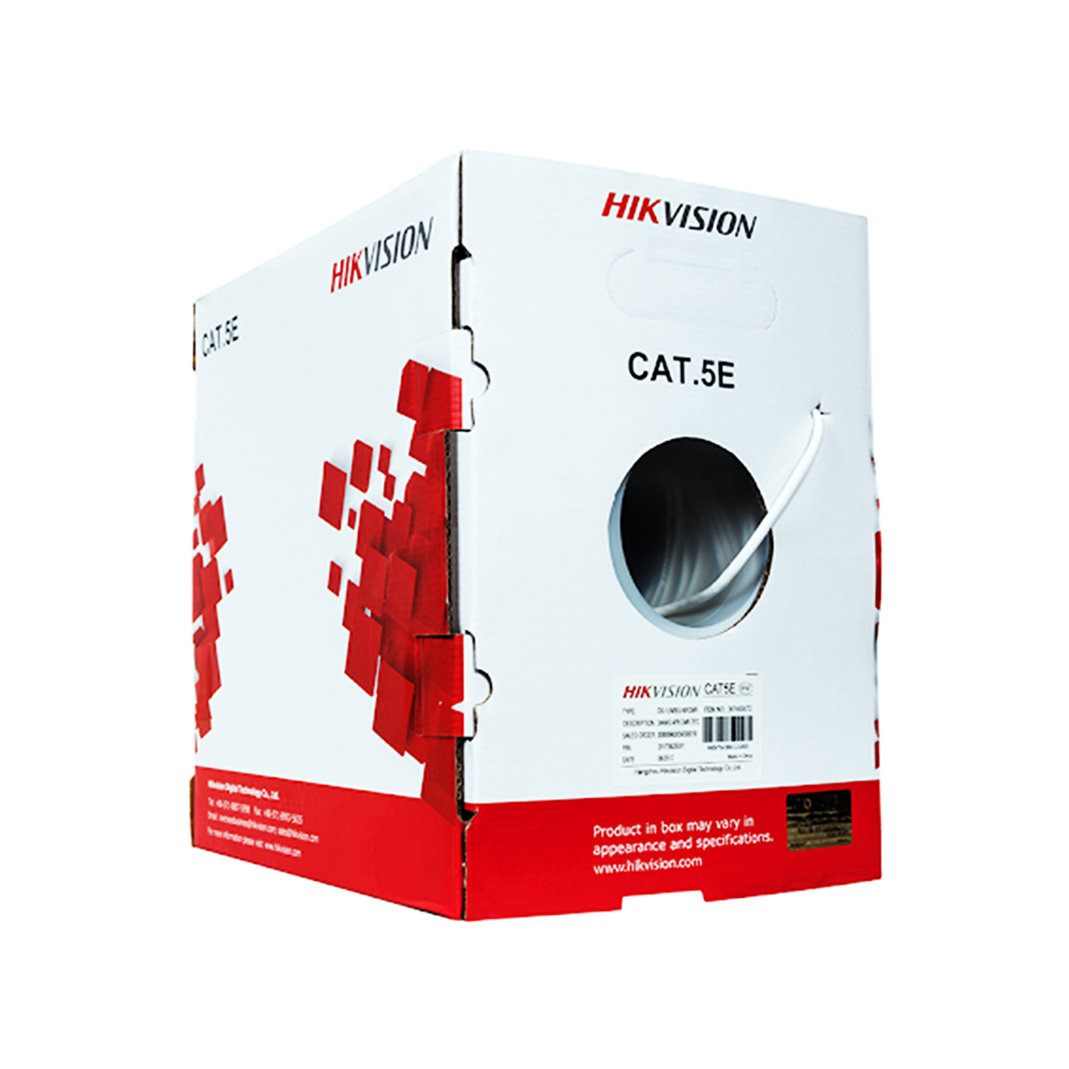 Cable UTP CAT 5e Hikvision DS-1LN5EU-G