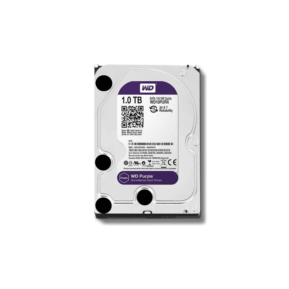 Disco Duro 4TB Western Digital WD40PURX especial para vídeo vigilancia