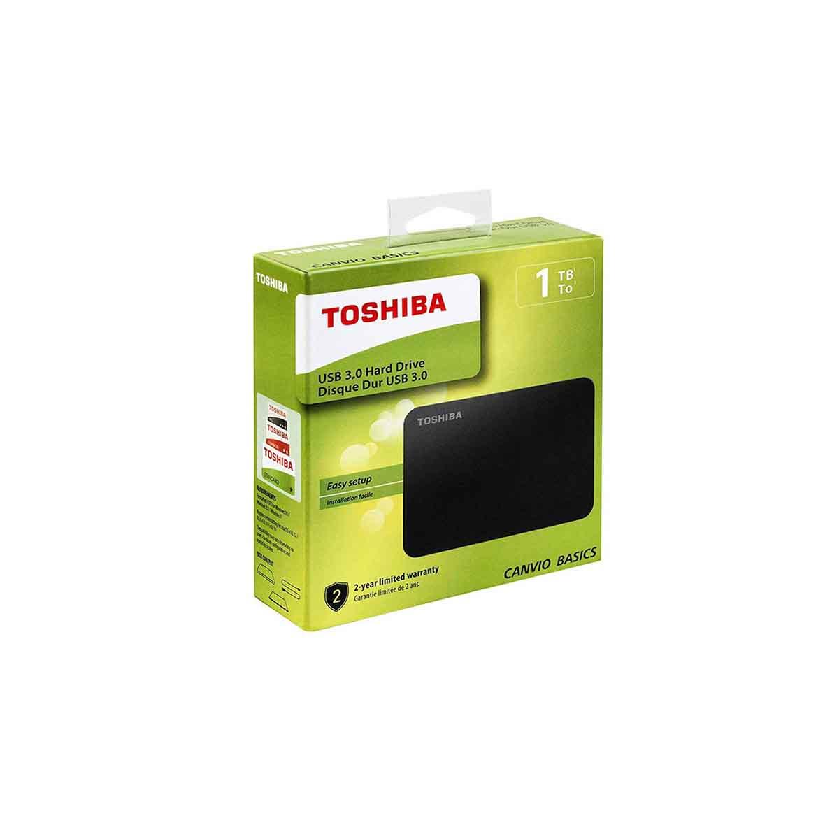 Disco Duro Externo TOSHIBA Canvio Basic 1TB HDTB410XK3AA
