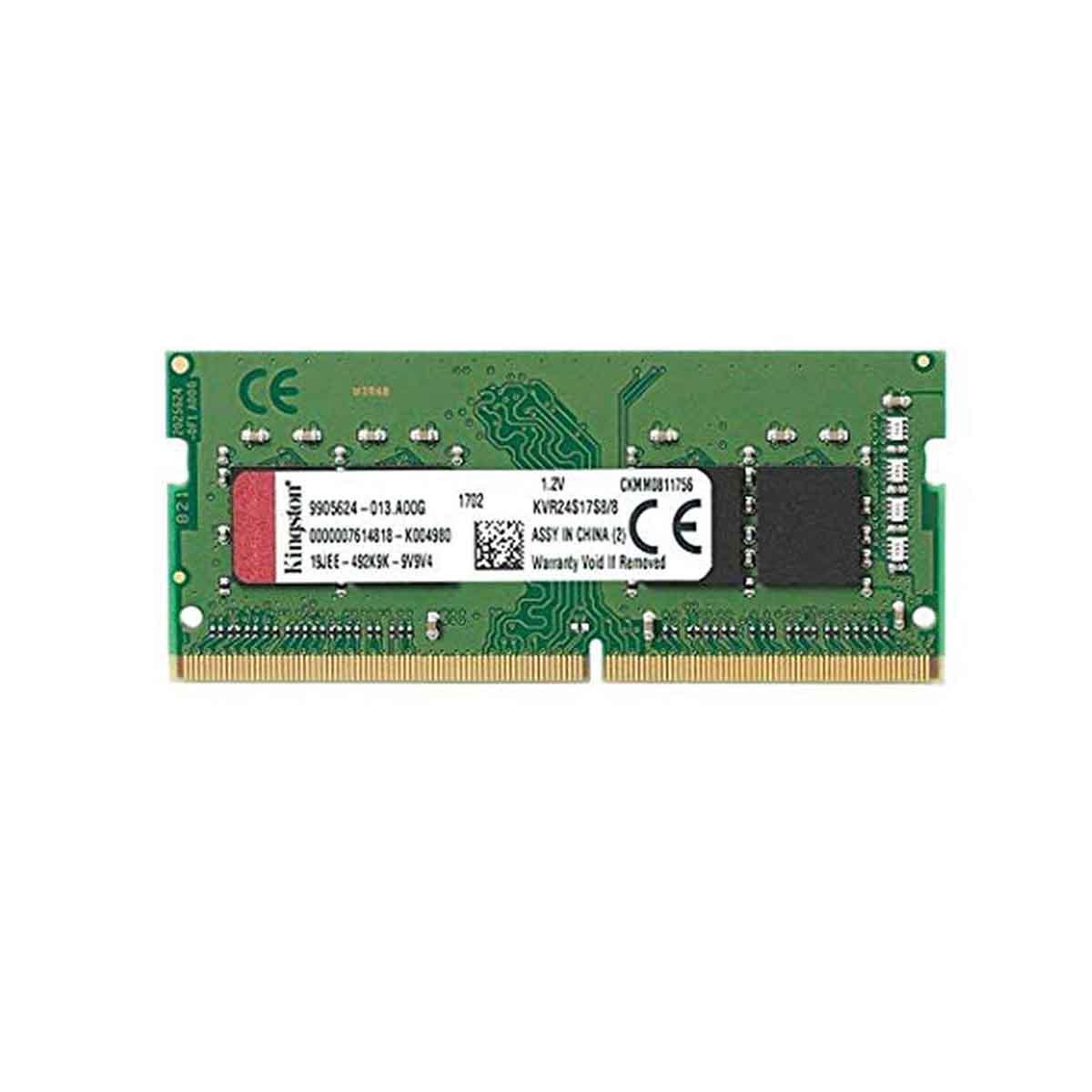 MEMORIA KINGSTON 8 GB DDR4 2400 Mhz SODIMM KVR24S17S8/8
