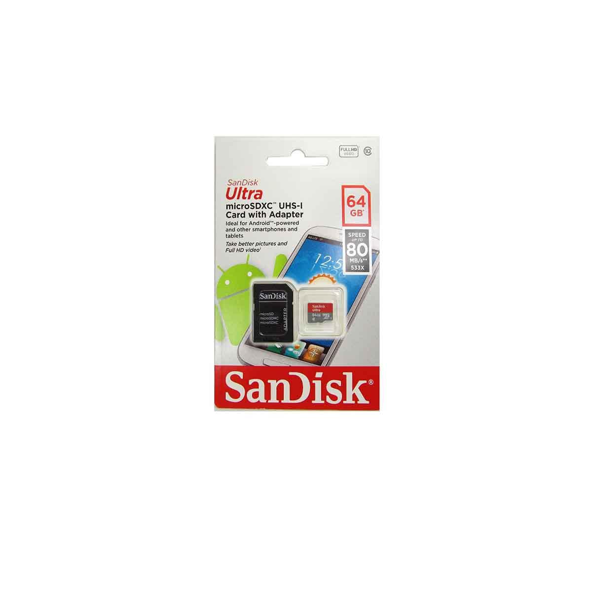 Memorias Micro SD 64GB SanDisk SDSQUNS-032G-GN3MA