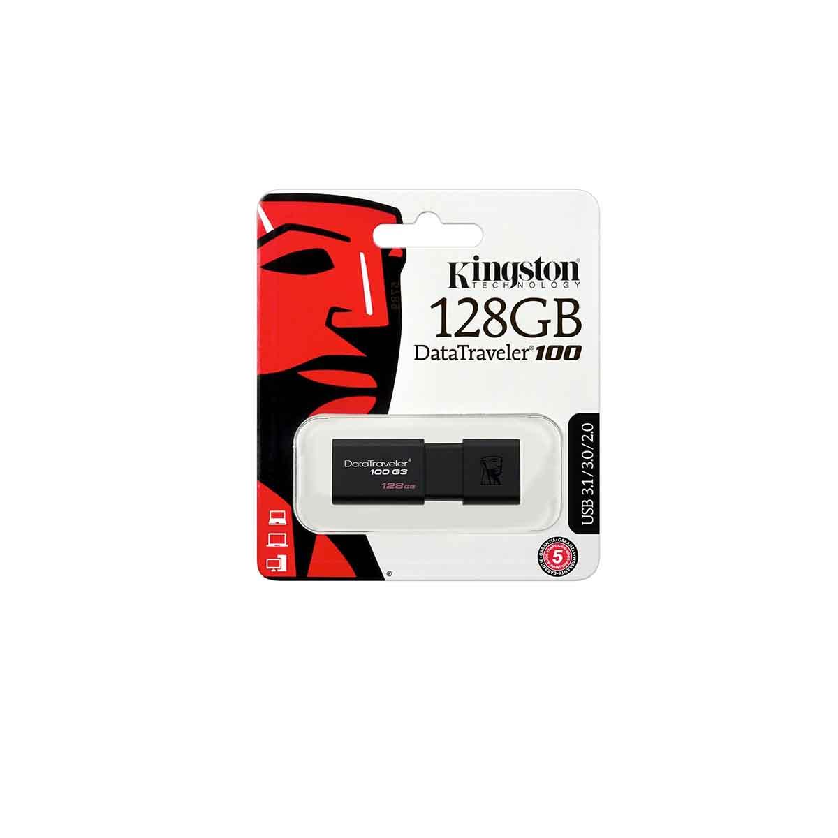 Pendrive Kingston 128GB USB Data Traveler 100G3 DTI1000G3/128GB