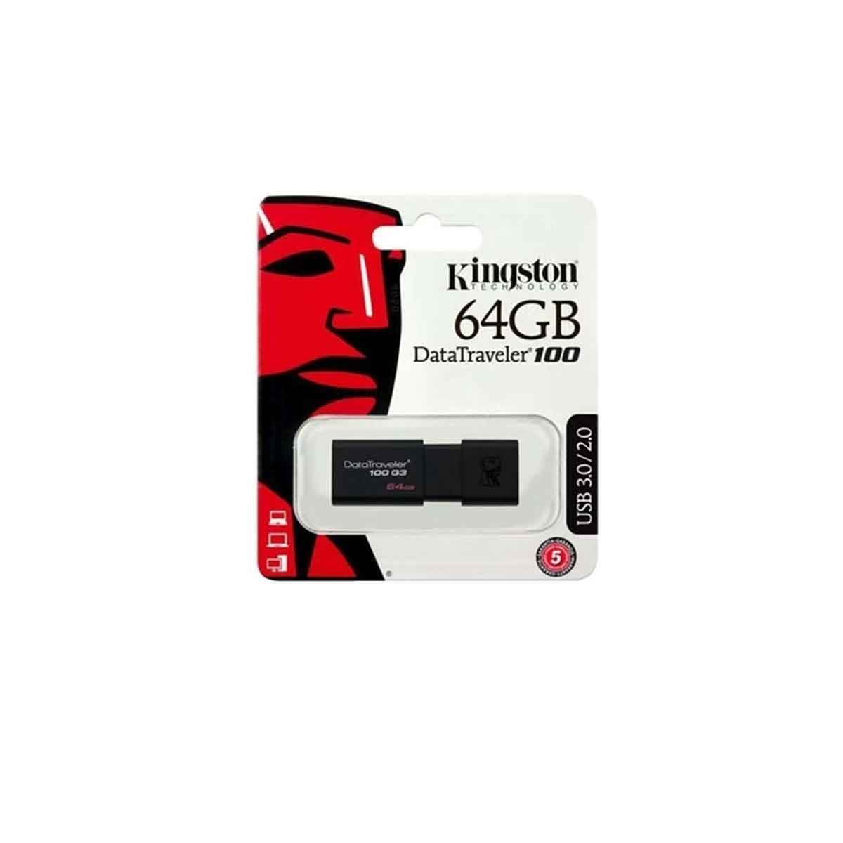 Pendrive Kingston 64GB USB Data Traveler DT100G3/64GB