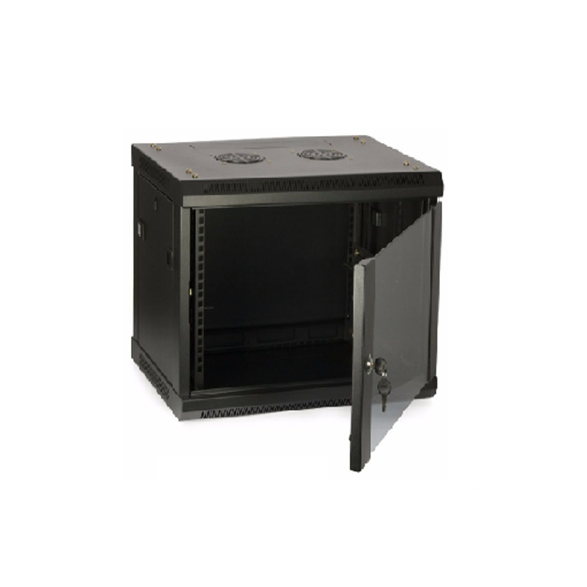 Rack gabinete de pared cerrado Wireplus de 9 U puerta de vidrio