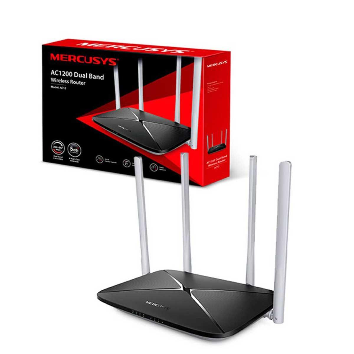 Router Mercusys AC1200 Doble Banda AC12