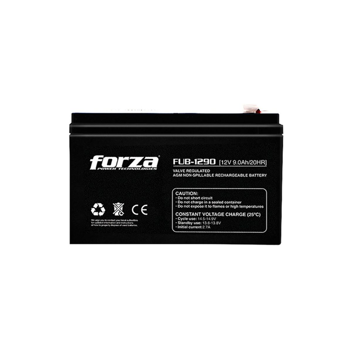 Batería 12V 4.0AH Forza FUB-1240 AGM