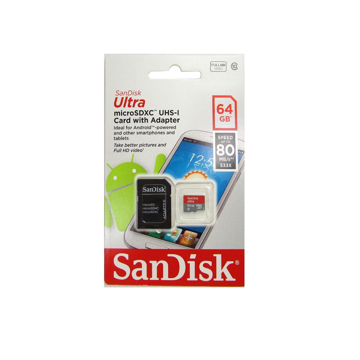 Memorias Micro SD 64GB SanDisk