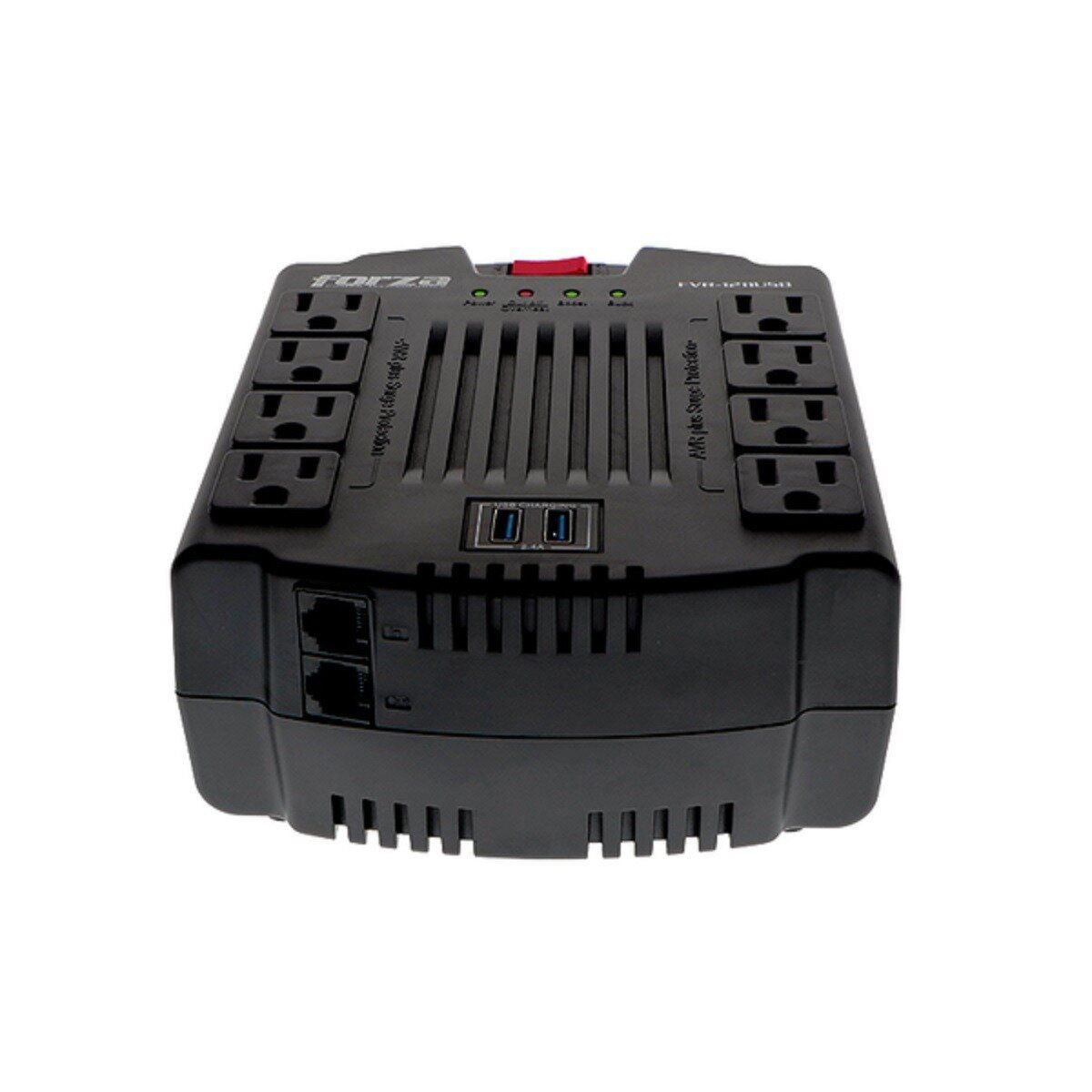 Regulador de Voltaje Forza 1200 VA / 600W FVR-1211USB