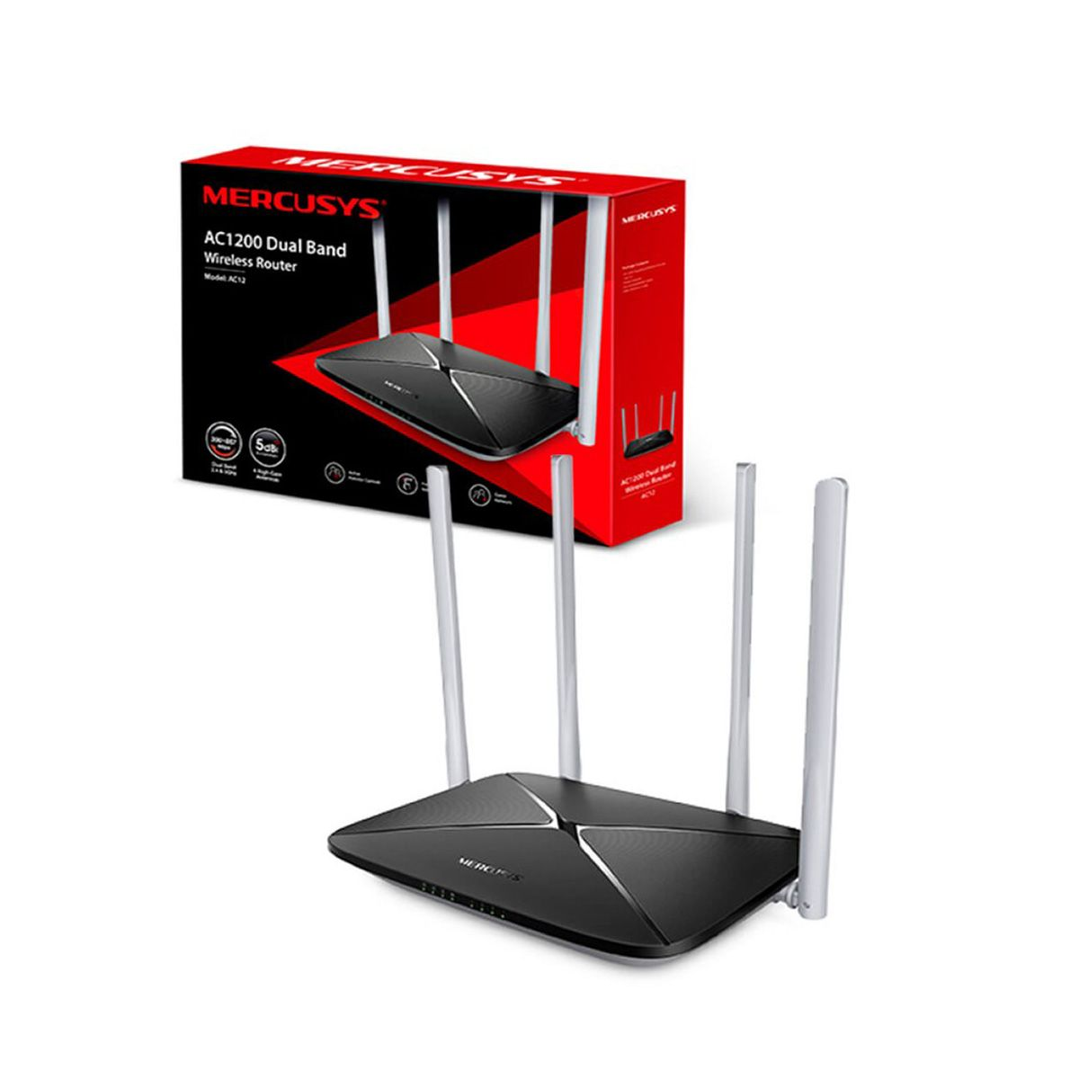 Router Mercusys AC1200 Doble Banda