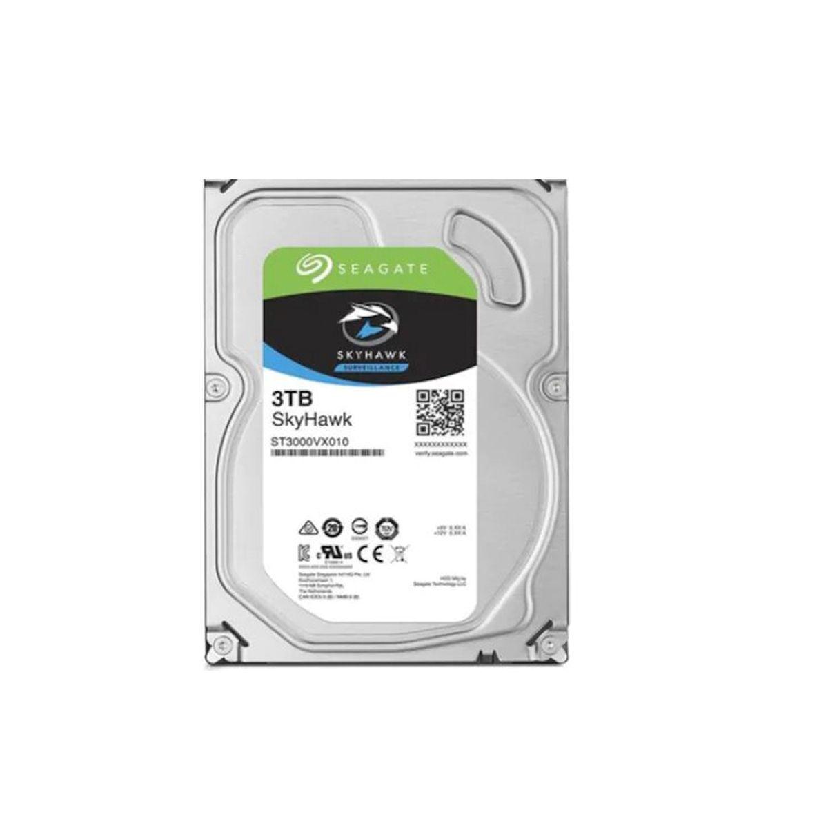 Disco Duro Seagate interno 3TB SATA Surveillance Skyhawk para PC ST3000VX010