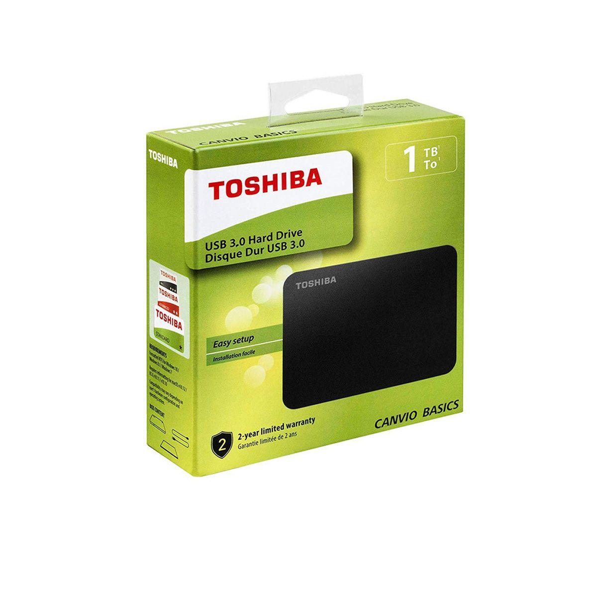 Disco duro externo Toshiba Canvio Basic 1TB/2,5″ USB 3.0