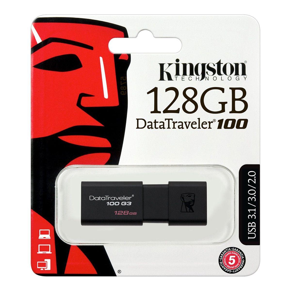 Pendrive Kingston 128GB USB Data Traveler 100G3