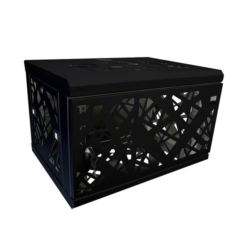 Rack gabinete de pared negro cerrado Metalnet de 6 U
