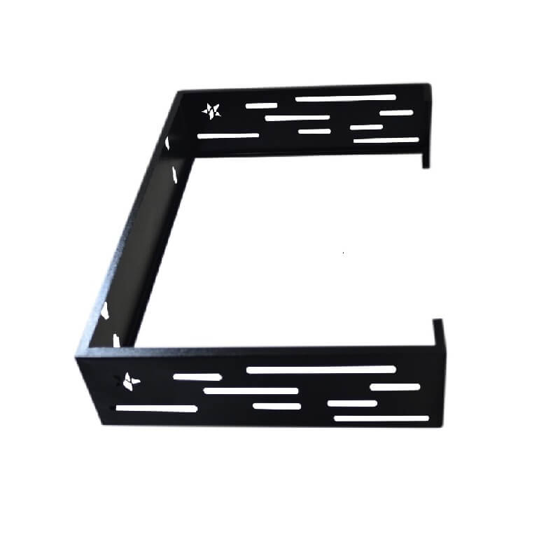 Rack de pared abierto Metalnet de 2 U