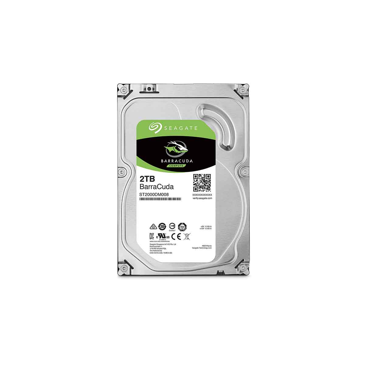 Disco Duro 2TB Interno SEAGATE BarraCuda  ST2000DM008