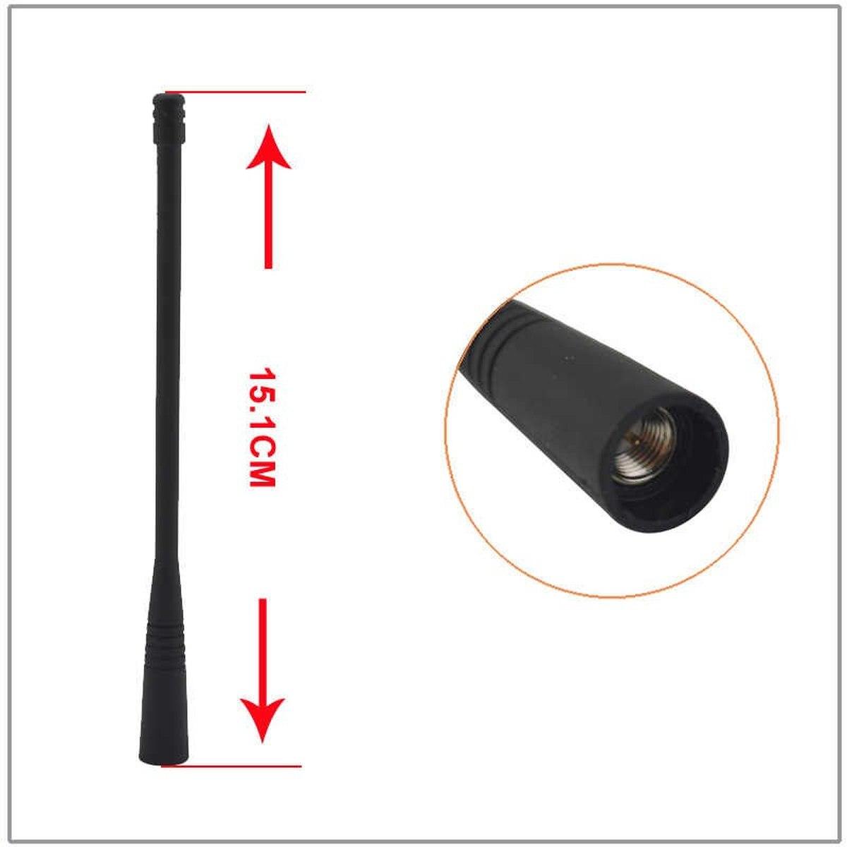 Antena Motorola para radio EVX-S24 UHF tipo látigo ATU-6C