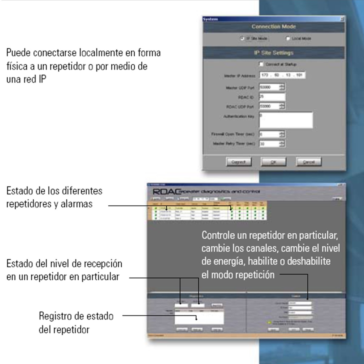 Licencia Motorola RDAC Multiple System HKVN4040 para Repetidora
