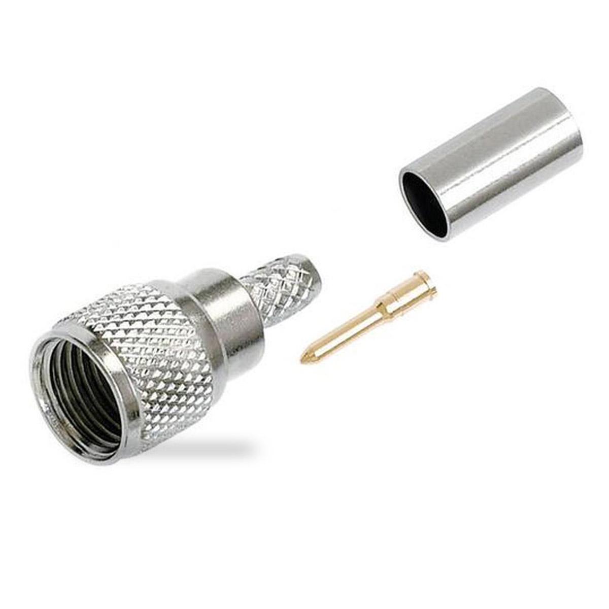 Conector de RF Mini-UHF para cable coaxial RG58 Mini-UHF