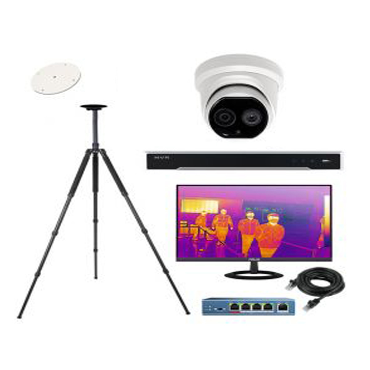 Cámara Hikvision IP DS-2TD1217B-3/PA Térmica Domo 4MP