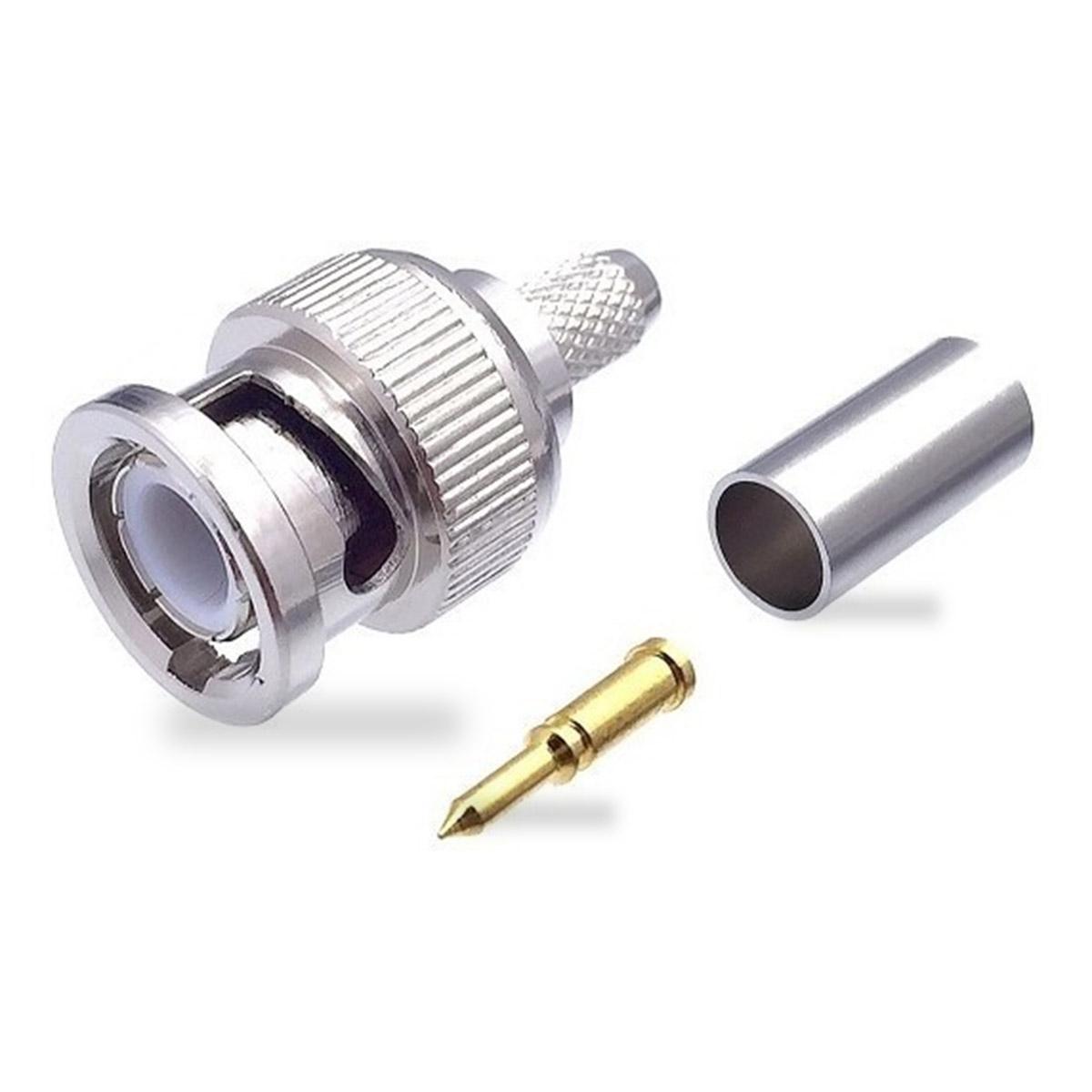 Conector BNC Macho para cable coaxial RG58 BNC