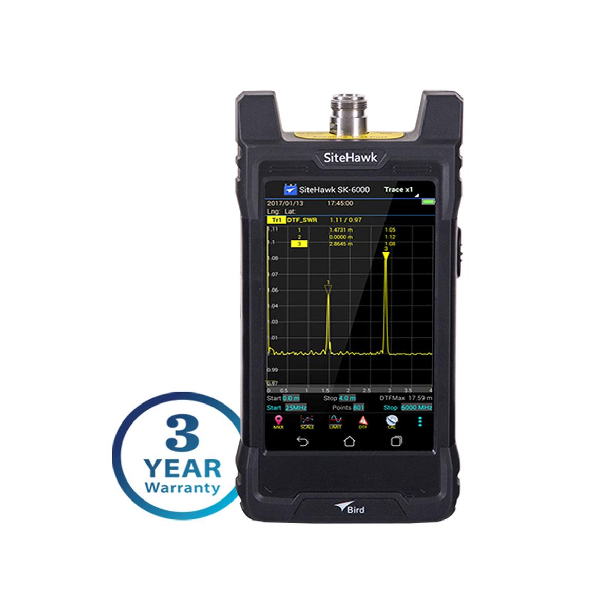 Analizador de cables y antenas de RF Bird SiteHawk SK-6000-TC1 MHz – 6 GHz