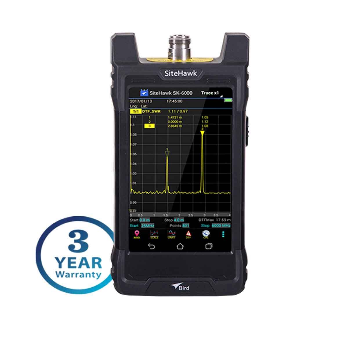 Analizador de cables y antenas RF Bird SiteHawk SK-4500-TC 1 MHz  4-5 GHz