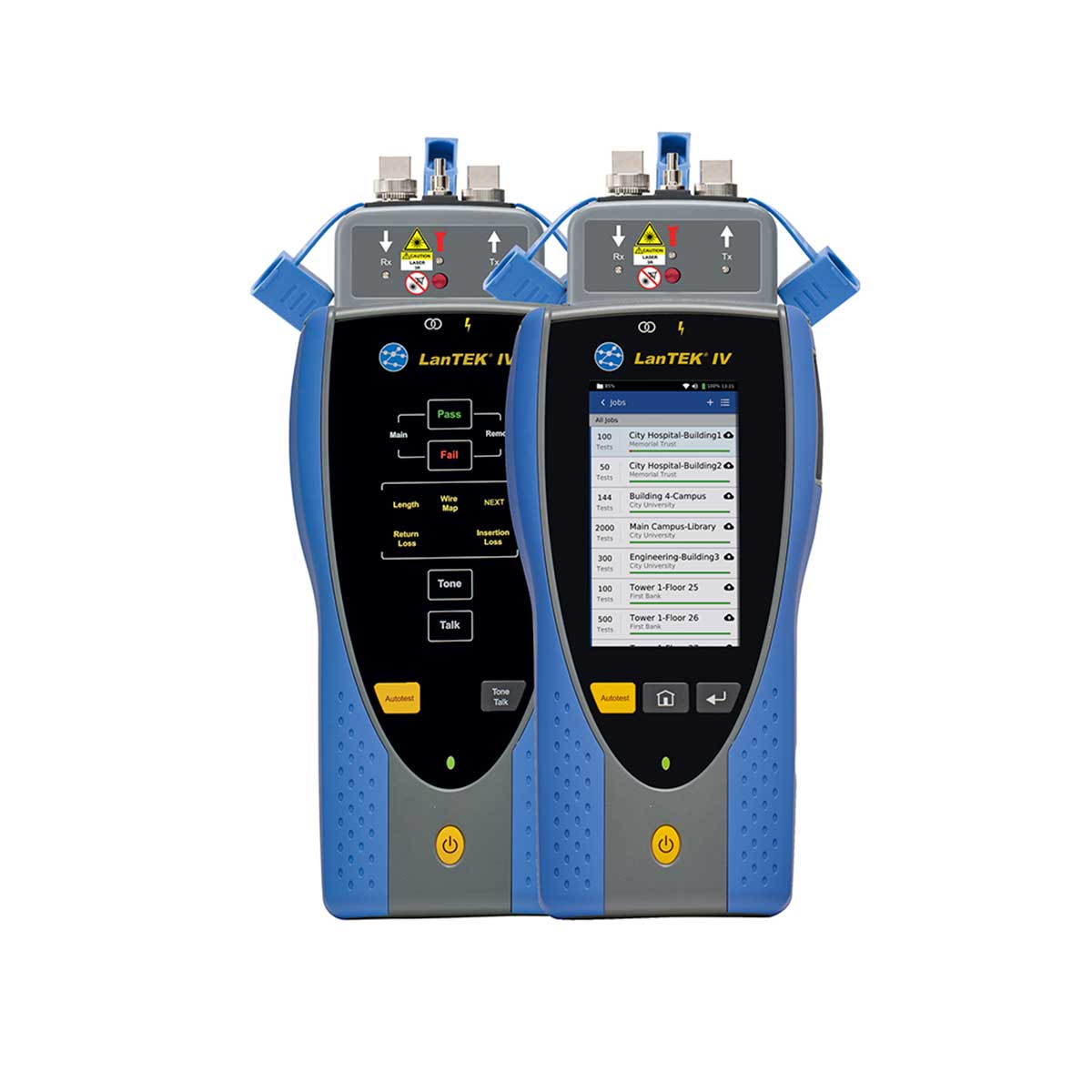 Certificador de Cobre y Fibra IDEAL Lantek IV R163000 500MHz