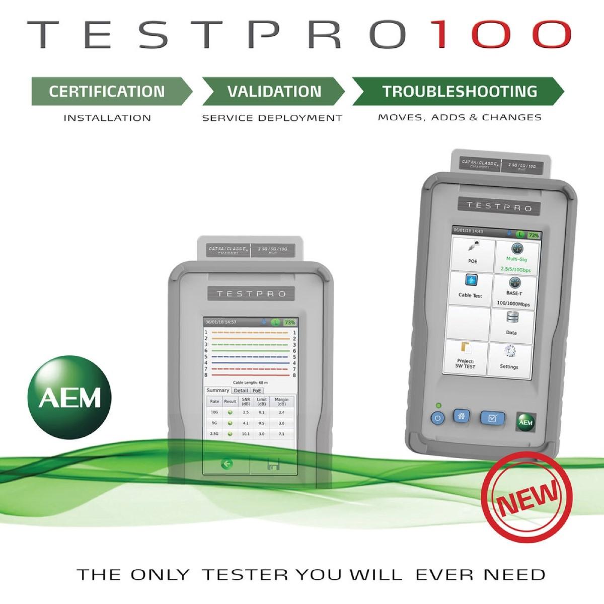 Probador de cables Multifunción AEM TestPro CV100