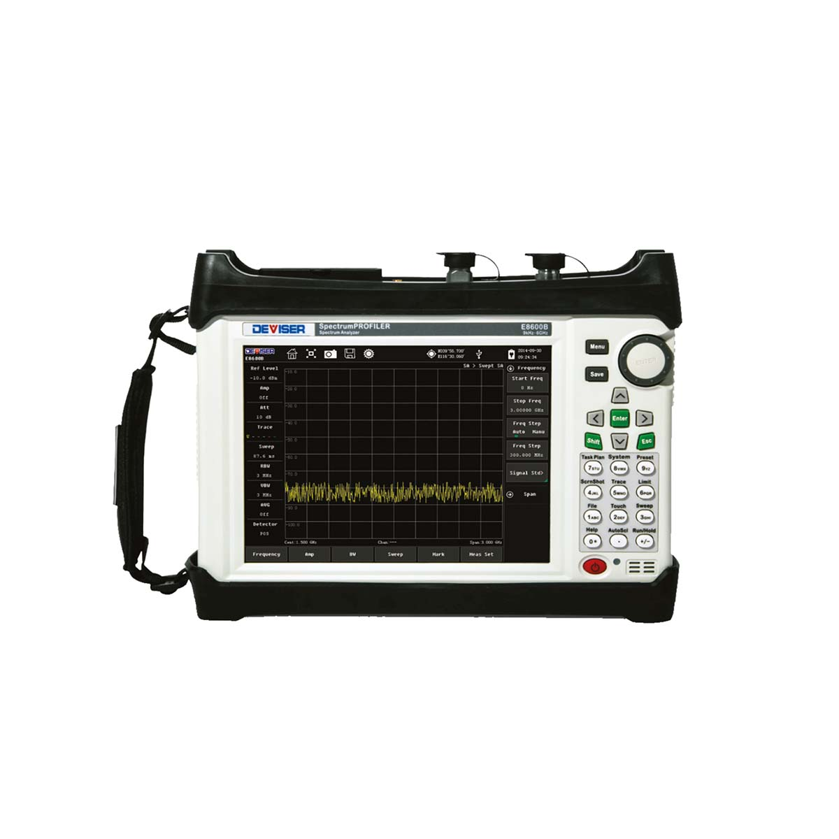 Analizador de espectro portátil DEVISER SERIE E8600B 9 kHz a 6 GHz