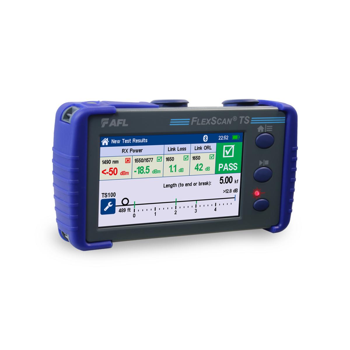 OTDR FlexScan TS100 FTTh FTTx PON Localizador de Fallas AFLFlexScan-TS100