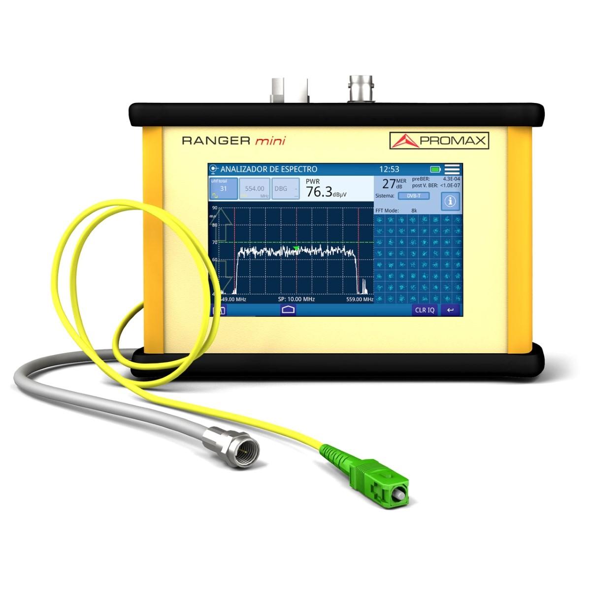 Medidor de campo para RF CATV DOCSIS y fibra óptica PROMAX RANGER mini 5 a 2700 MHz