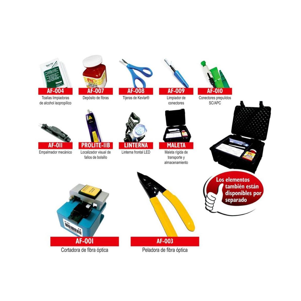 Kit De Conectorizacion De Fibra Optica ProMax PL-10 KIT-PL-10