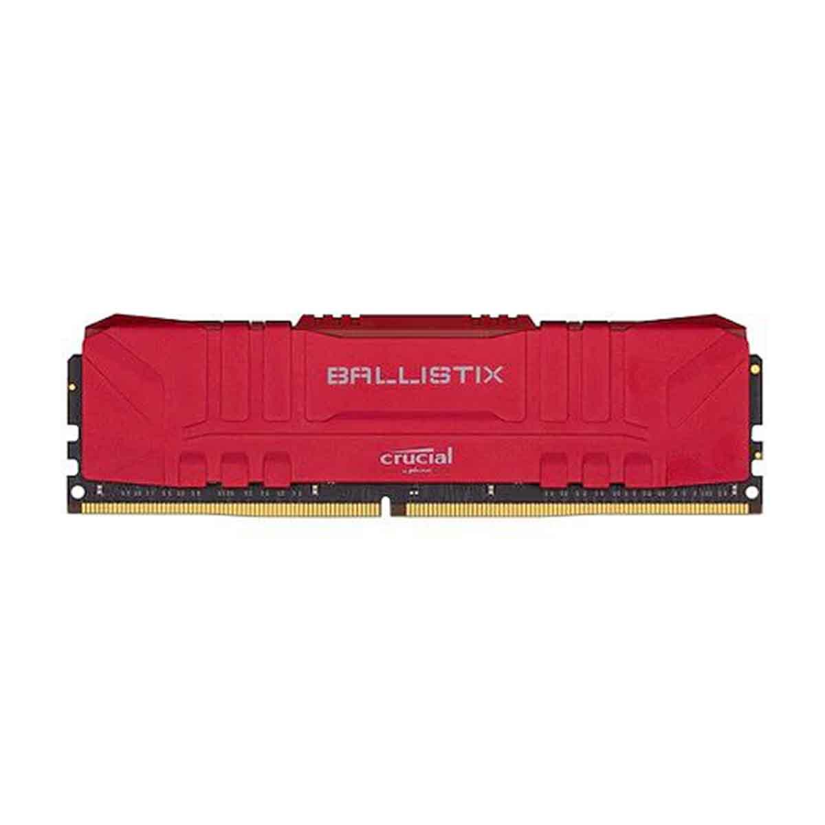 CRUCIAL BALLISTIX  MEMORIA GAMMER 8GB DDR4-2666 ROJA BL8G26C16U4R