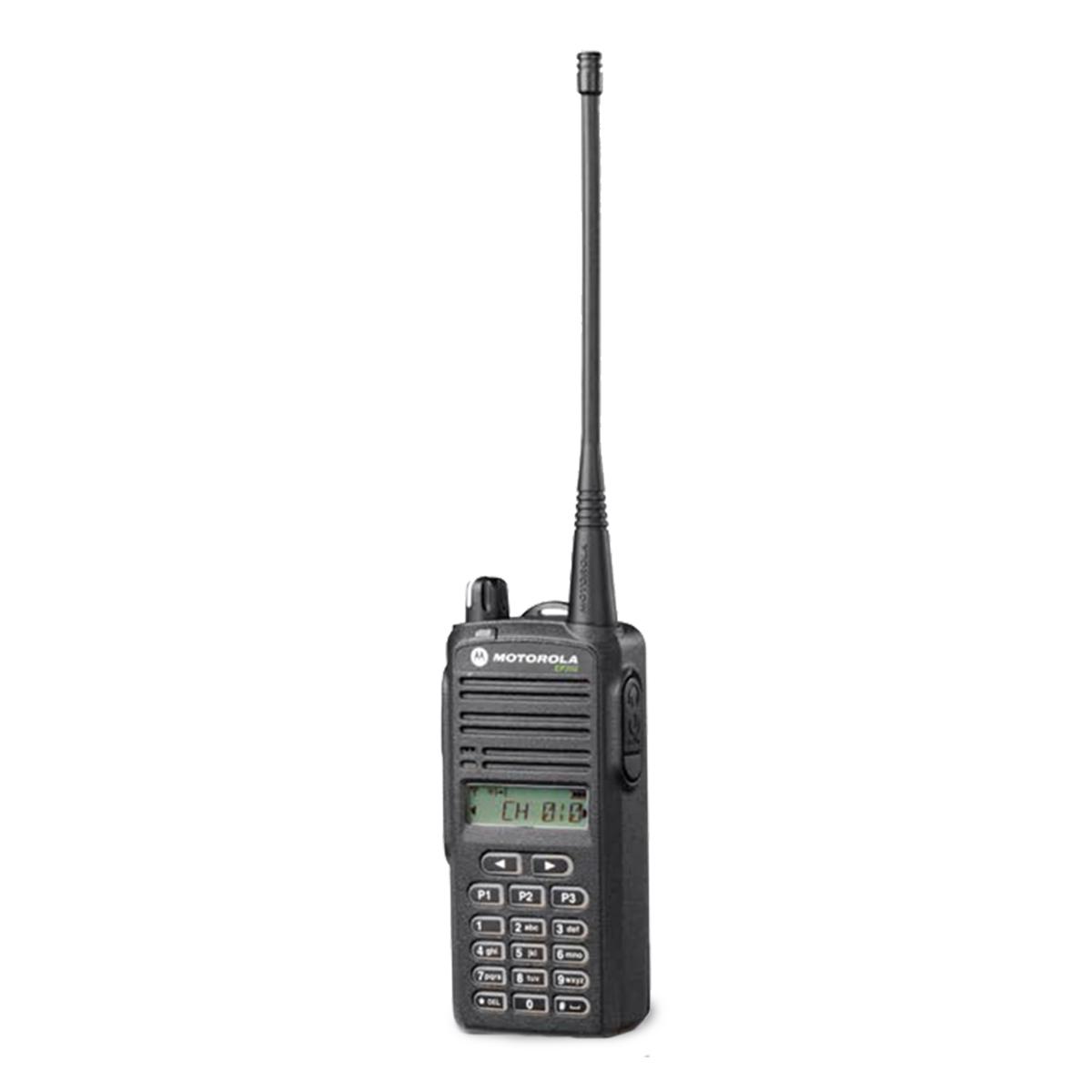 Radio Motorola EP350 MX Analógico LAH03RDK8AB9AN UHF 435-480 MHz con pantalla y teclado completo