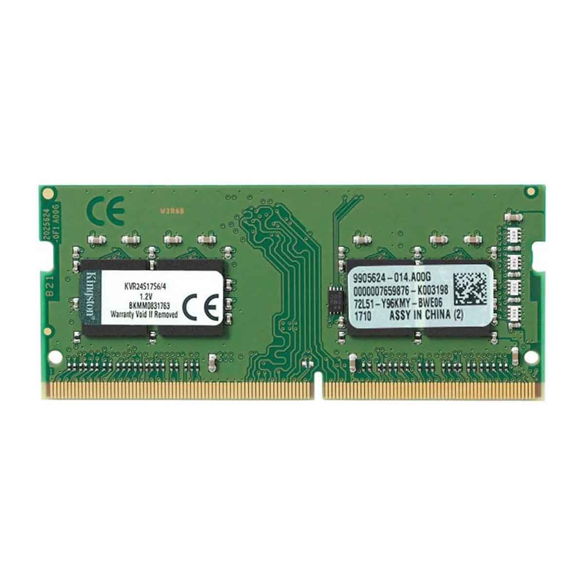 MEMORIA KINGSTON VALUE RAM 4GB 2400 -DDR4 SODIMM KVR24S17S6/4