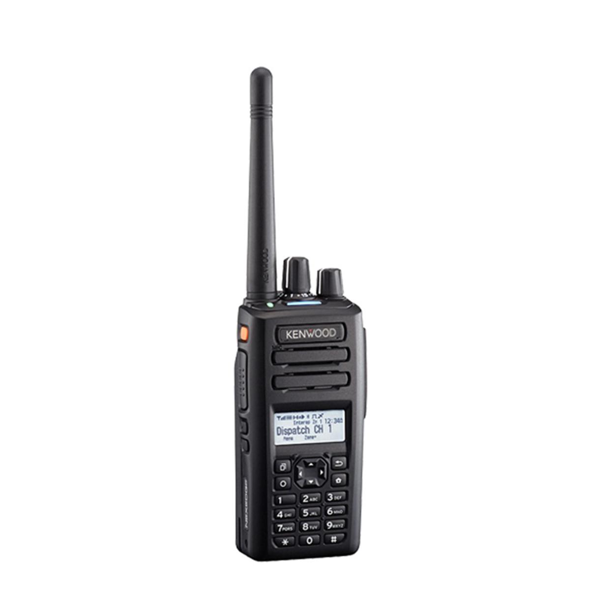 Radio KENWOOD NX-3200 Digital VHF 136-174 MHz con pantalla y teclado completo