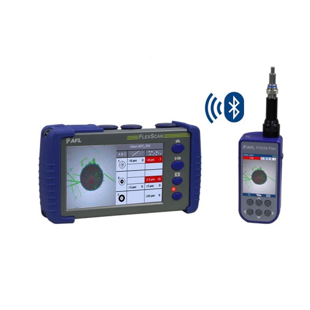 Quad OTDR FTTH PON AFL FlexScan FS300-325 con BT y WI-FI Localizador de Fallas