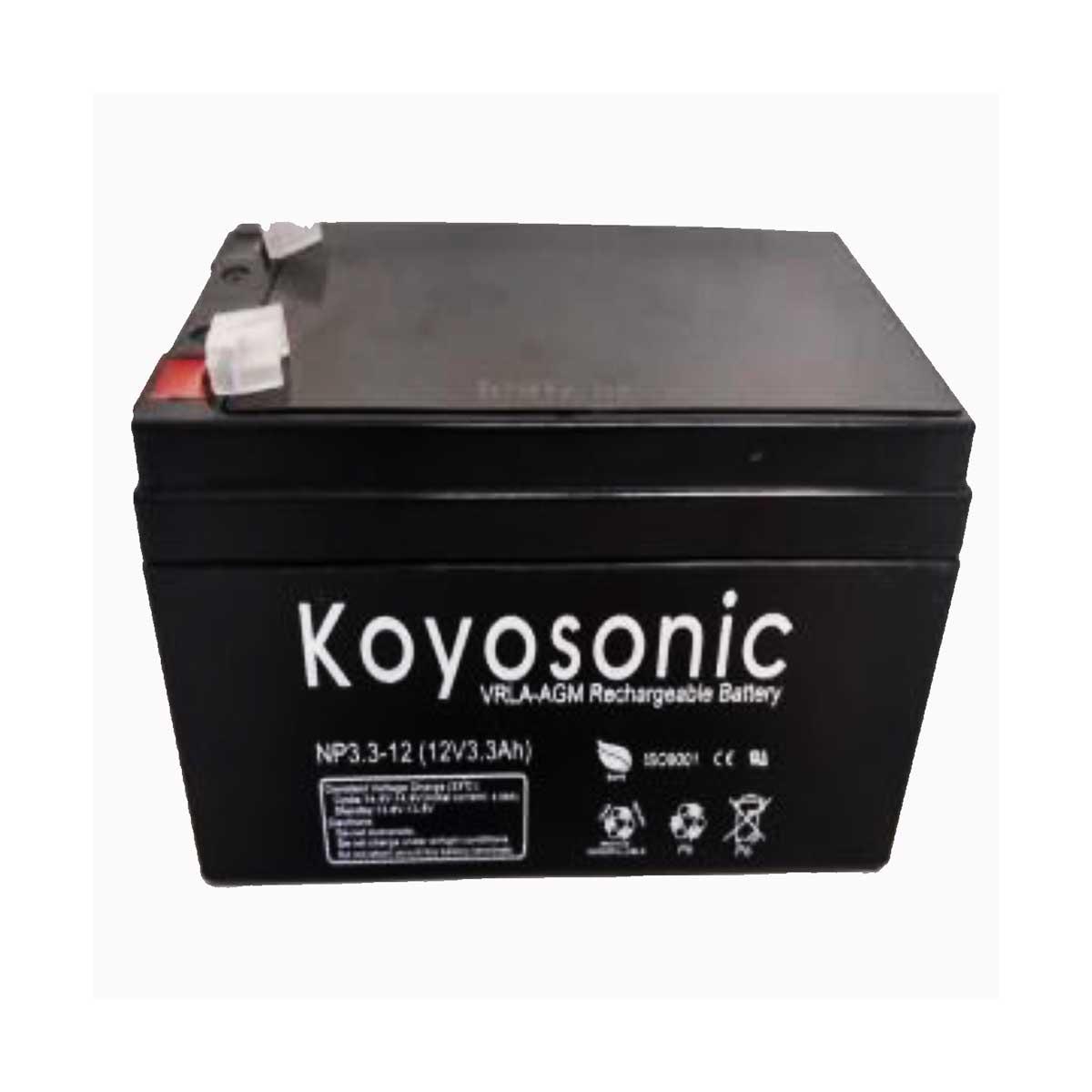 Batería 12V 3AH Koyosonic AGM-NP33-12 33Ah 12V