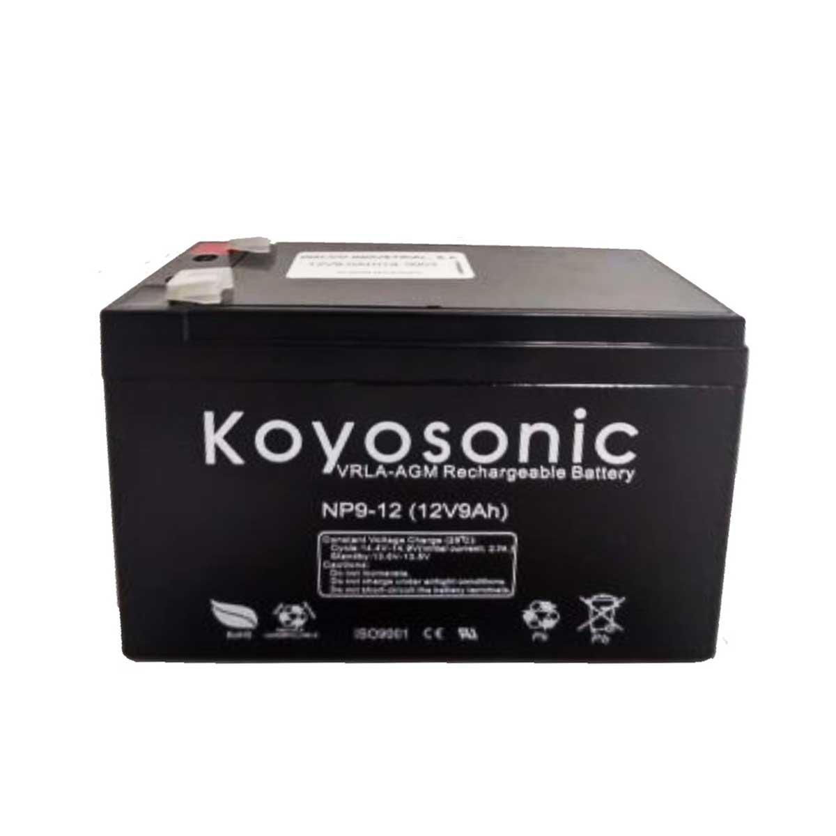 Batería 12V 9AH Koyosonic AGM-NP9-12 9Ah 12V