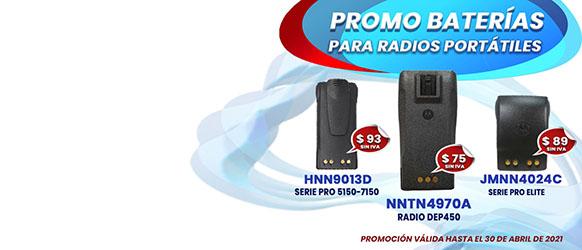 Oferta en Baterías para Radios Motorola