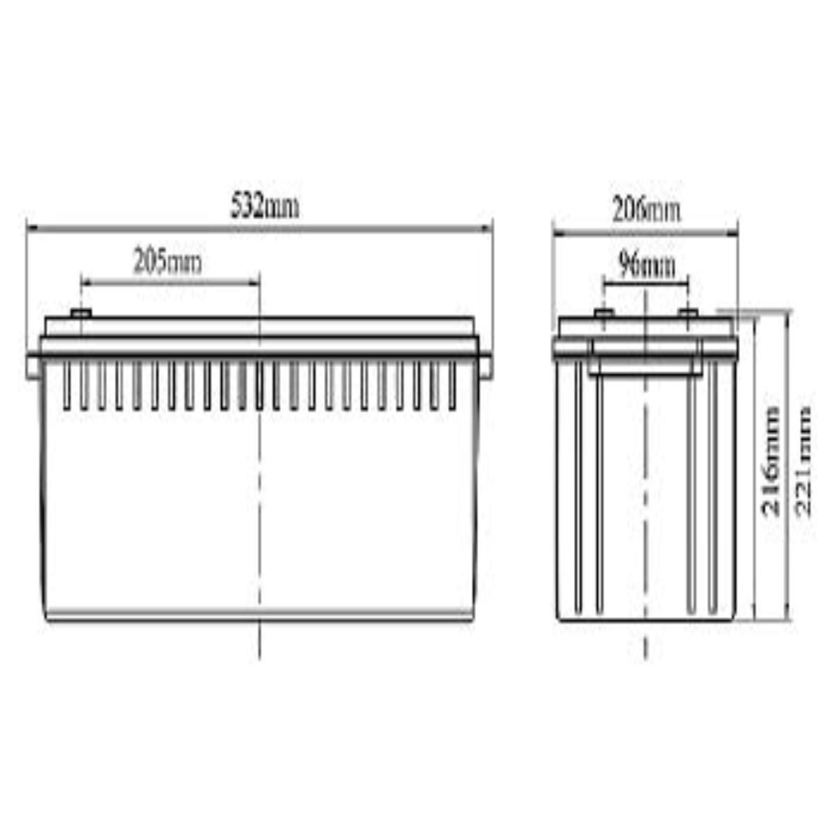 Batería plomo acido 12V 200 AH ciclo profundo Koyosonic NPCG200-12